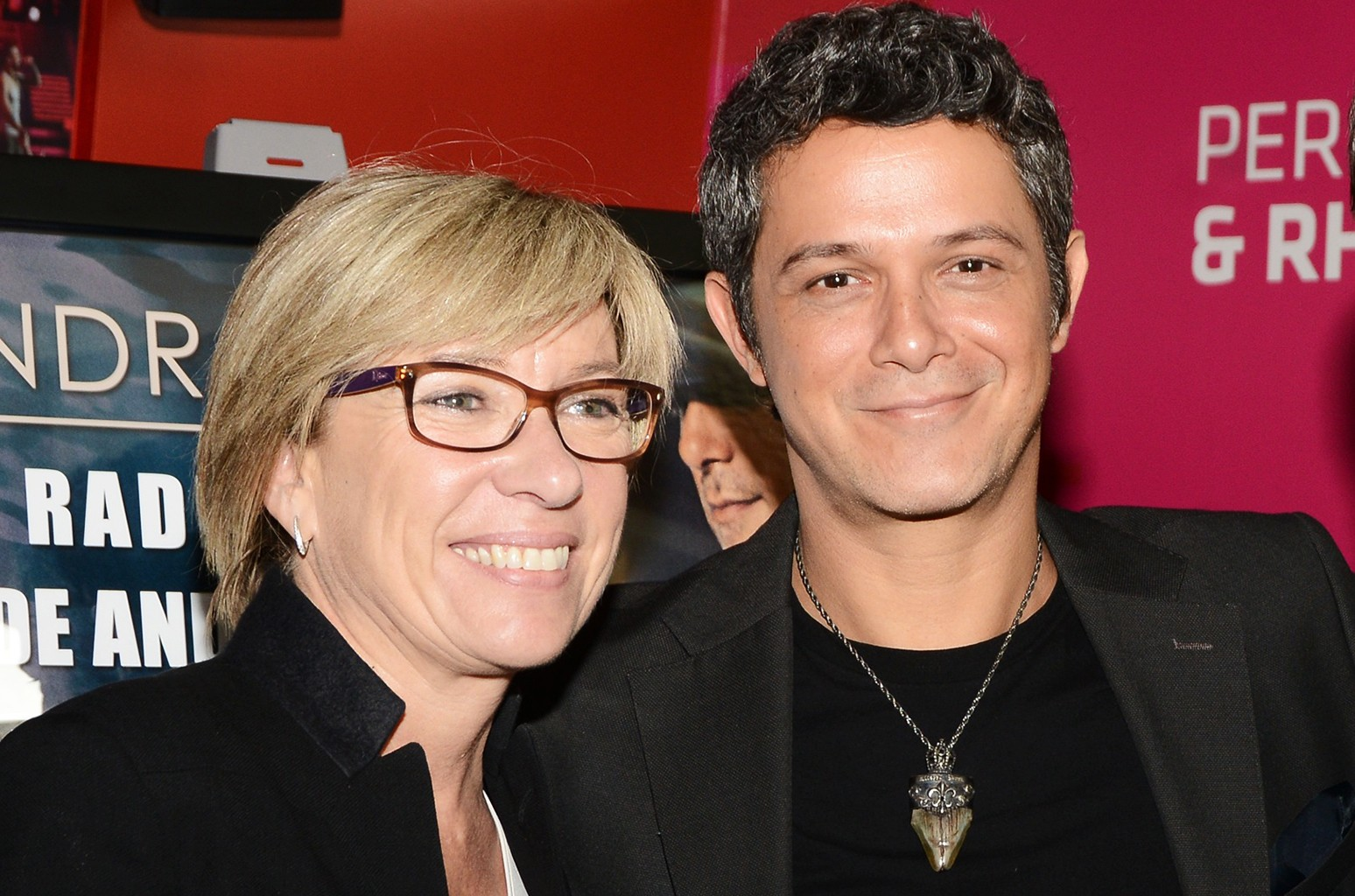Rosa Lagarrigue and Alejandro Sanz at The Grammy Museum