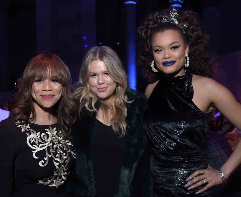 Rosie Perez and Singers Grace and Andra Day attend the celebration of Urban Arts Partnership 25th Anniversary Benefit at Cipriani Wall Street on March 15, 2017 in New York City.