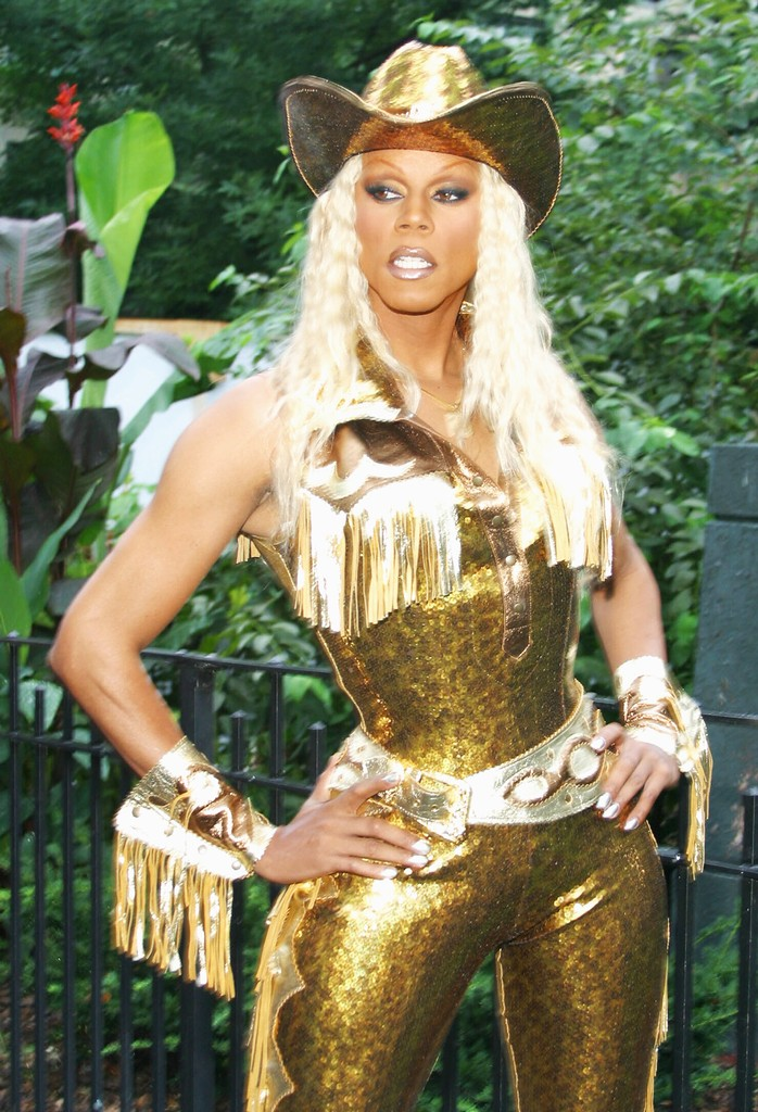 RuPaul performs at Wigstock on Aug. 21, 2004 at Tompkins Square Park, in New York City.