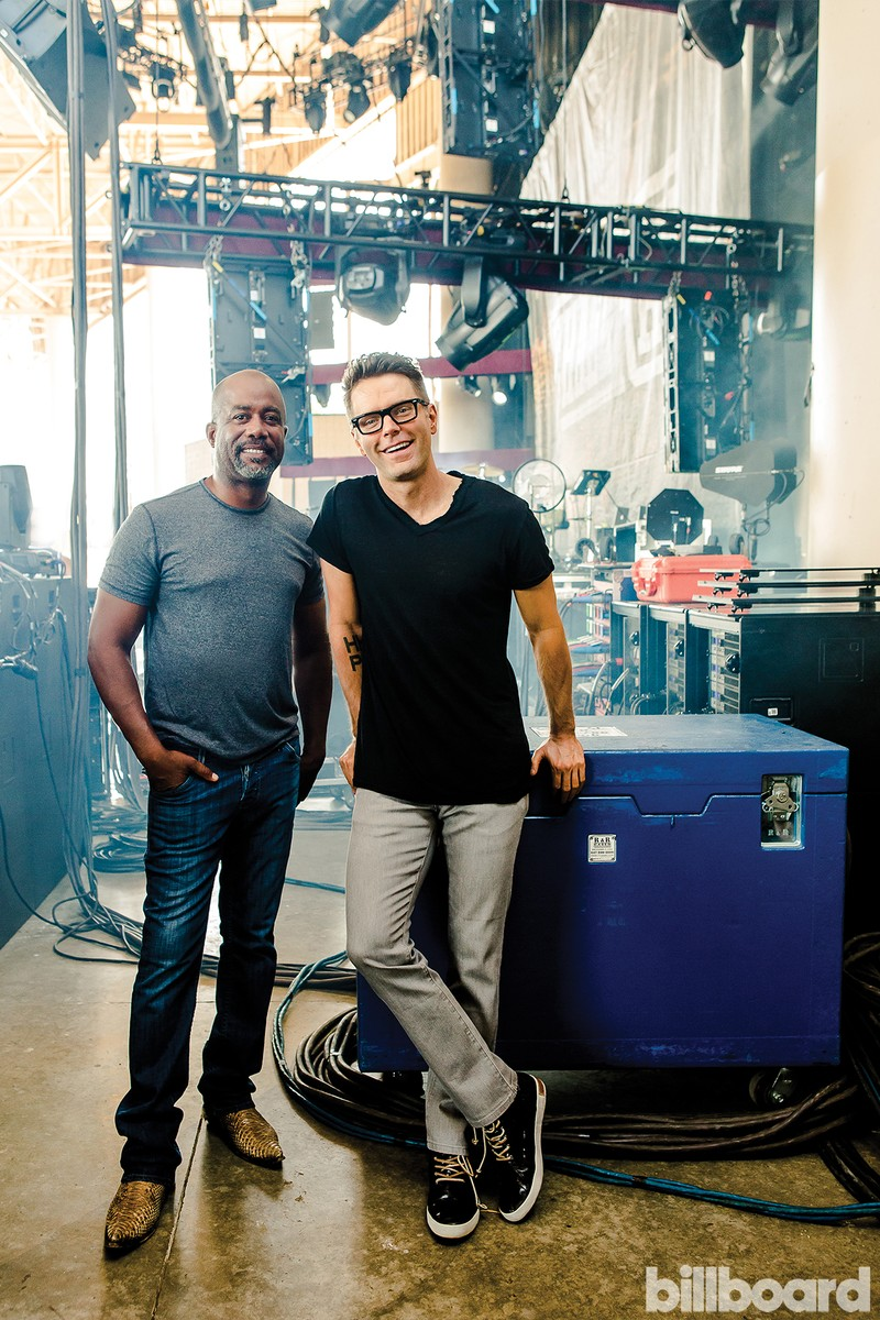 Rucker (left) and Bones photographed by LucyHewett on June 25 at Klipsch Music Center in Noblesville, Ind.