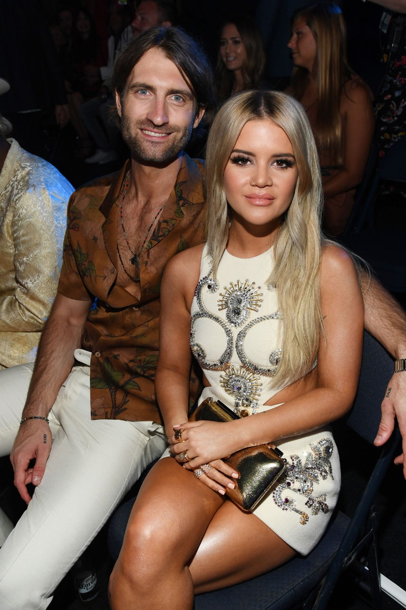 Ryan Hurd and Maren Morris attend the 2019 CMT Music Awards at Bridgestone Arena on June 5, 2019 in Nashville.