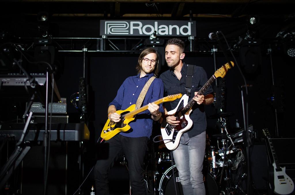 Saint Motel onstage on Sept. 7, 2016.