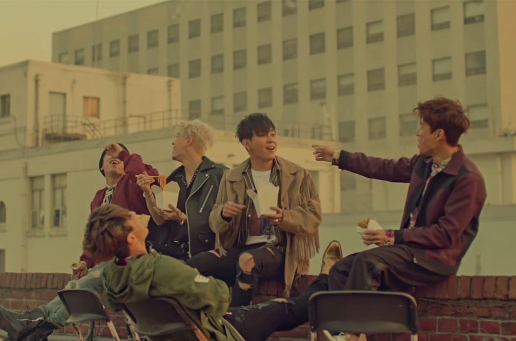 "SECHSKIES in the video for ""Sad Song."""