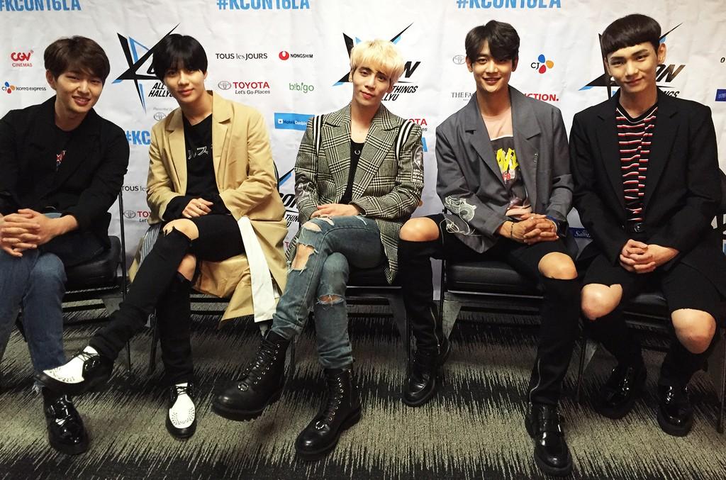 SHINee at KCON LA 2016.