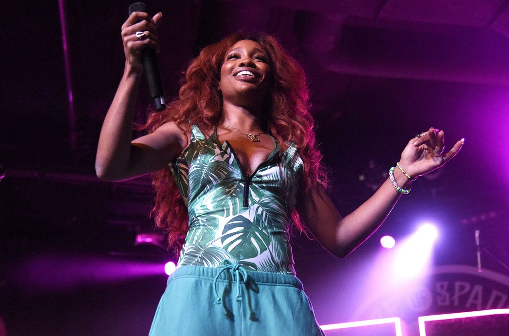 """SZA performs in support of her """"Ctrl"""" release at Ace of Spades on Sept. 10, 2017 in Sacramento, Calif."""
