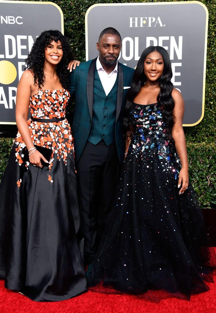 Sabrina Dhowr, Idris Elba and Isan Elba