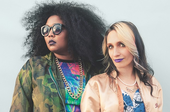 Sadie Dupuis and Lizzo Basement Queens