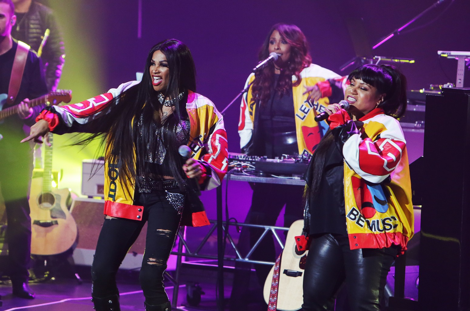 Salt N' Pepa perform at the Keep a Child Alive Black Ball at Hammerstein Ballroom in New York City on Oct. 19, 2016.