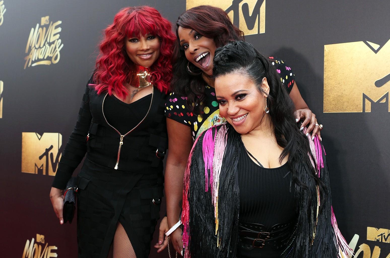Salt-N-Pepa attend the 2016 MTV Movie Awards