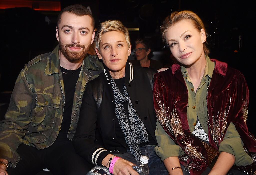 Sam Smith, Ellen DeGeneres and Portia de Rossi