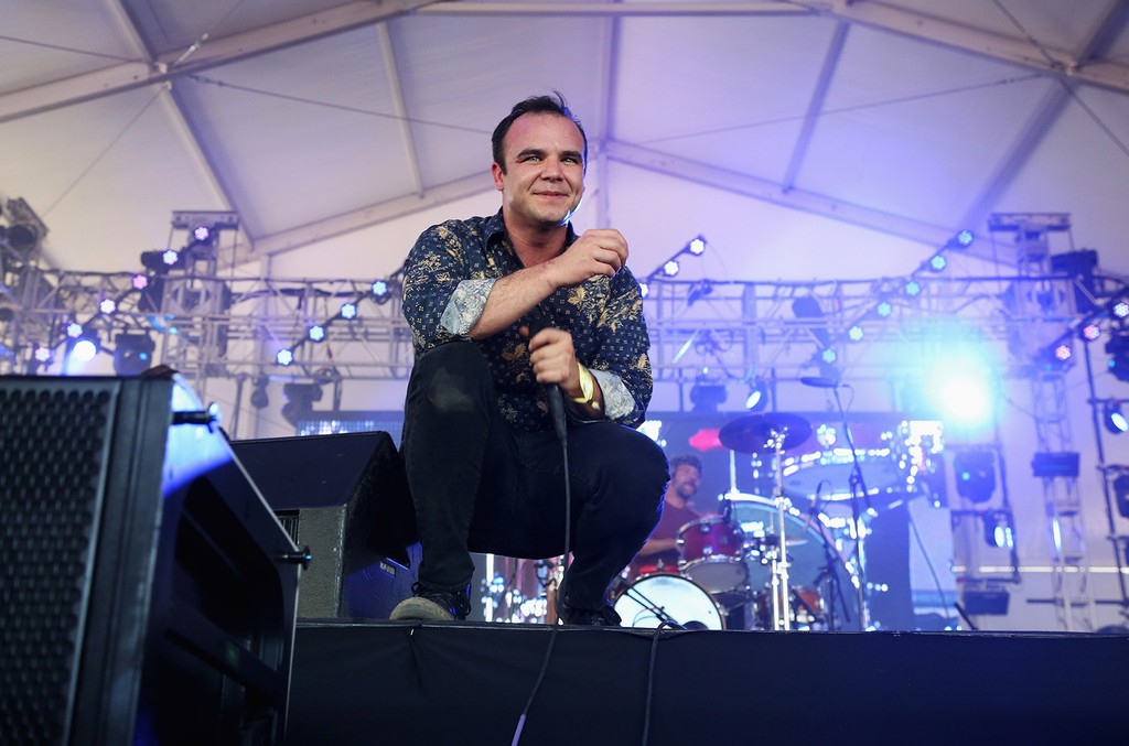 Samuel T. Herring of Future Islands performs onstage during 2015 Governors Ball Music Festival at Randall's Island on June 6, 2015 in New York City.