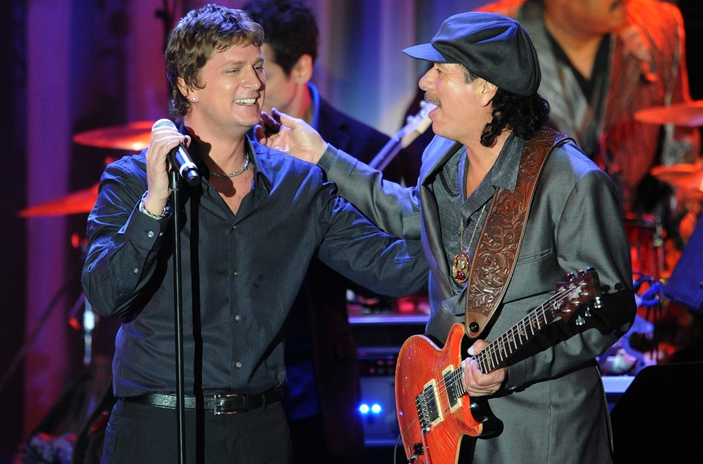 Carlos Santana and Rob Thomas