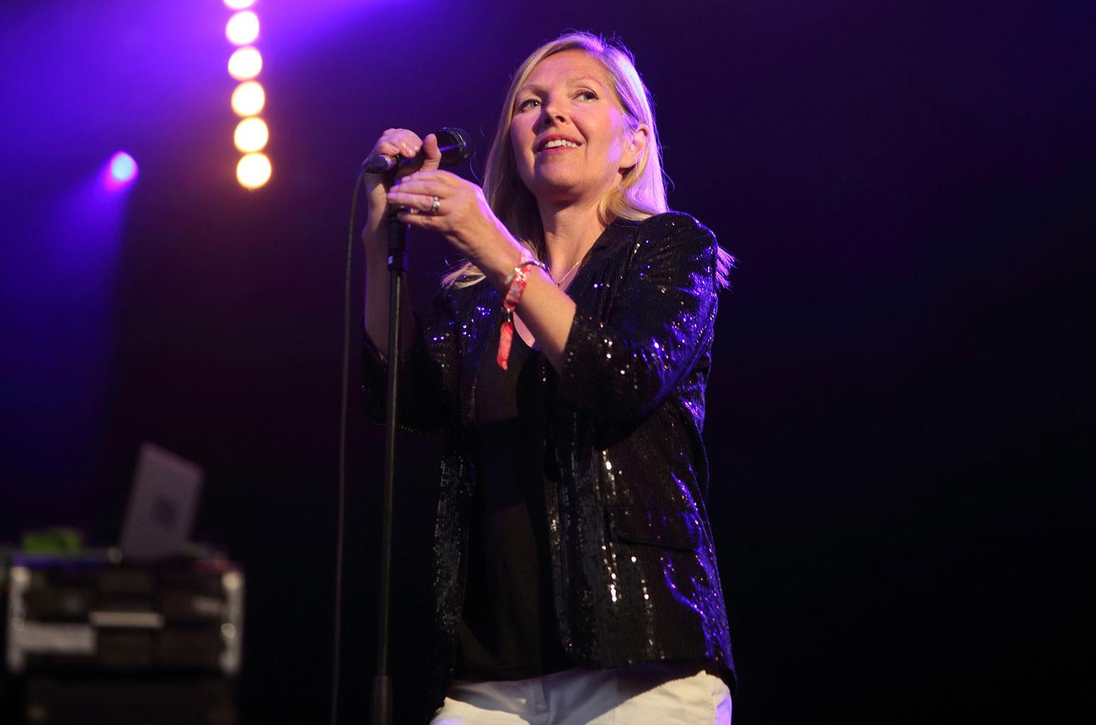 Sarah Cracknell of Saint Etienne performs on day 2 of End of the Road Festival at Larmer Tree Gardens on Sept. 5, 2015 in Farnham, Dorset.