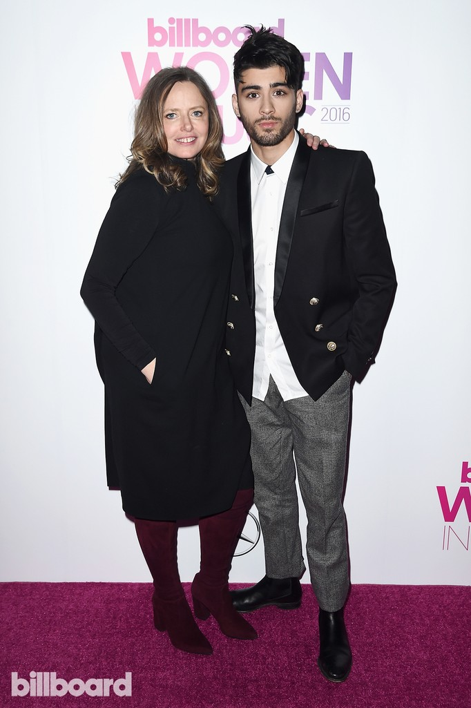 Sarah Stennett and Zayn Malik attend the Billboard Women in Music 2016 event on Dec. 9, 2016 in New York City.