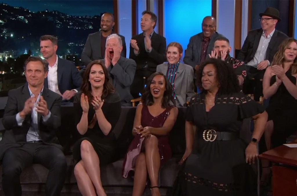 The cast of Scandal on Jimmy Kimmel Live!