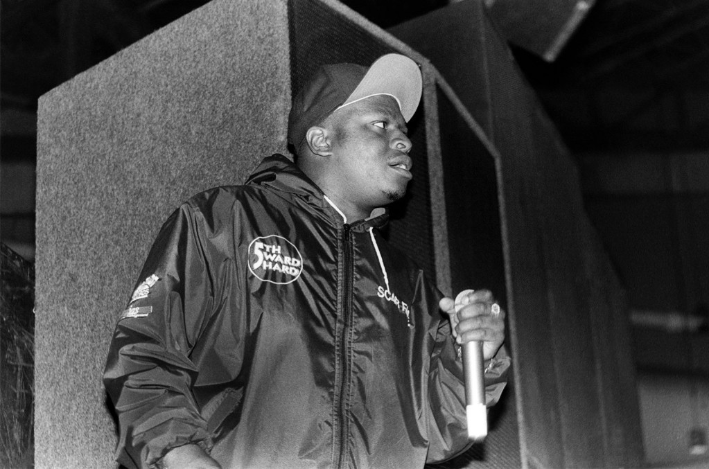 Scarface of the Geto Boys performs at the Regal Theater in Chicago in 1992.