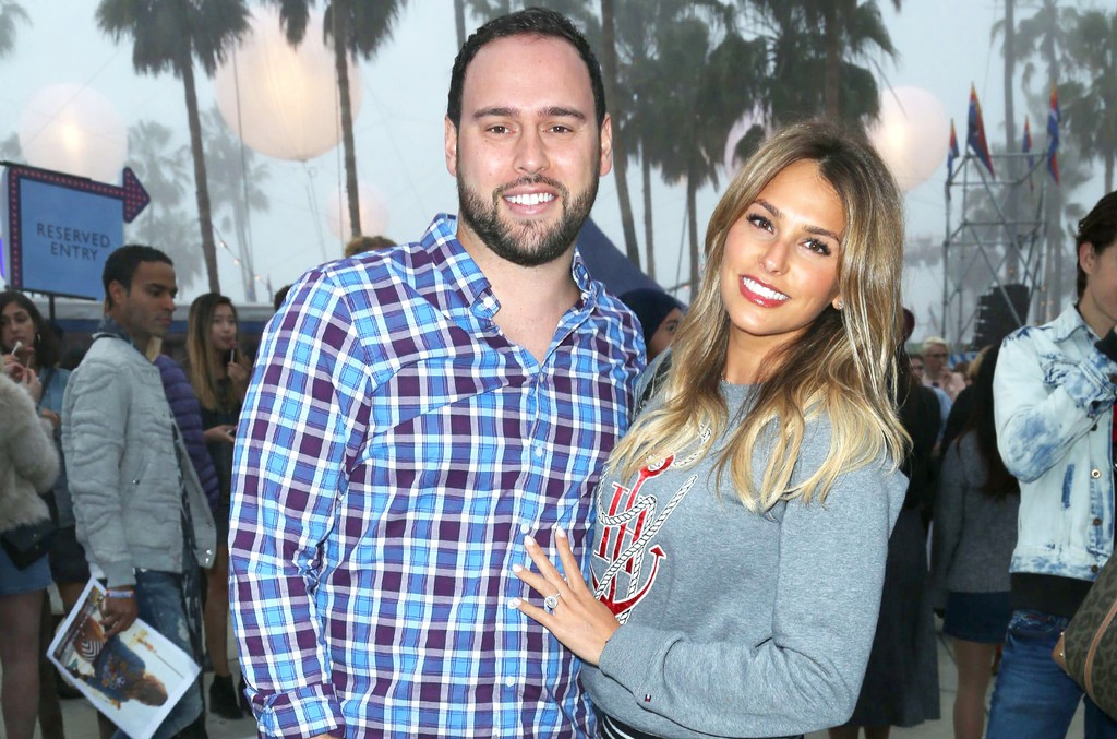 Scooter Braun and Yael Cohen attend Tommy Hilfiger Spring 2017 Women's Collection featuring the TommyxGigi Collection in Los Angeles on Feb. 8, 2017.