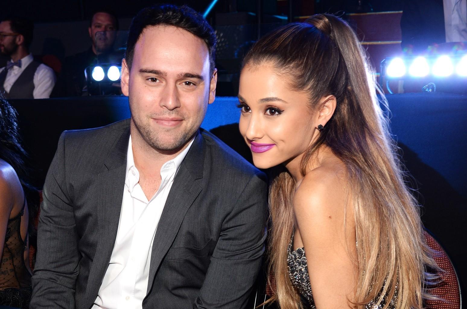 Scooter Braun and Ariana Grande