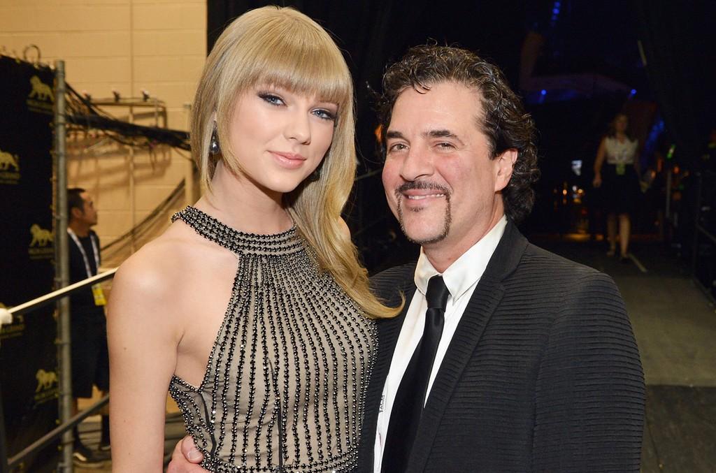 Taylor Swift and Scott Borchetta
