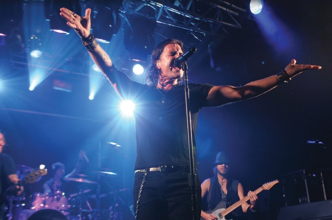 Scott Stapp performs live at Electric Ballroom, London on April 23, 2014.