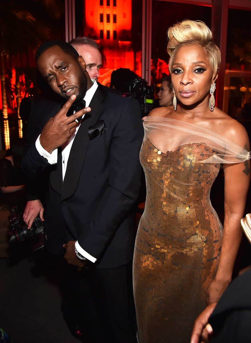 Sean Combs and Mary J. Blige