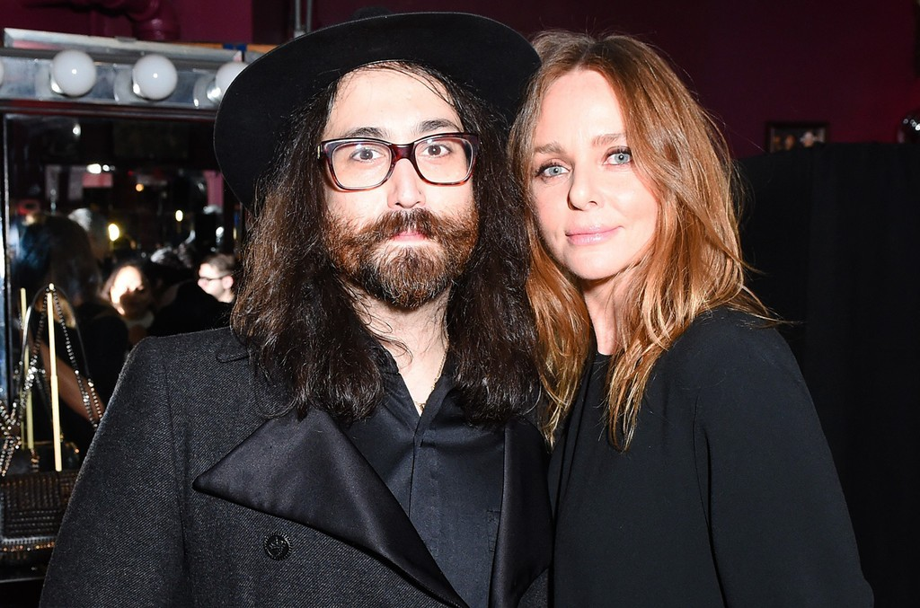 Sean Lennon and Stella McCartney photographed at Stella McCartney Fall 2017 presentation in New York on Jan. 10, 2017.