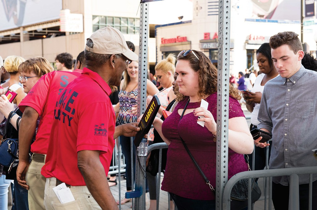 Concertgoers passed through security checkpoints at Beyoncé's June 14 concert at Ford Field inDetroit.