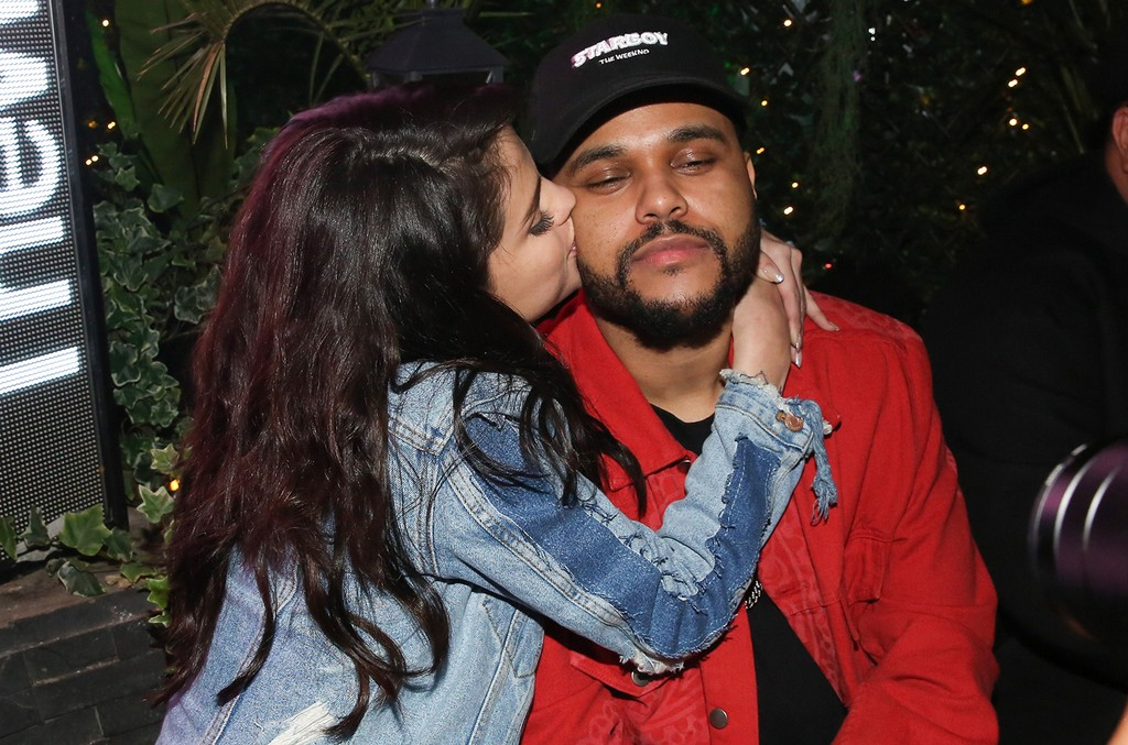 ?Selena Gomez and The Weeknd at his after show party held at L'Arc in Paris, France on Feb. 28, 2017.