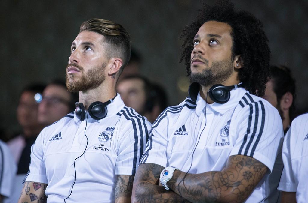 Sergio Ramos and Marcelo Vieira in 2015
