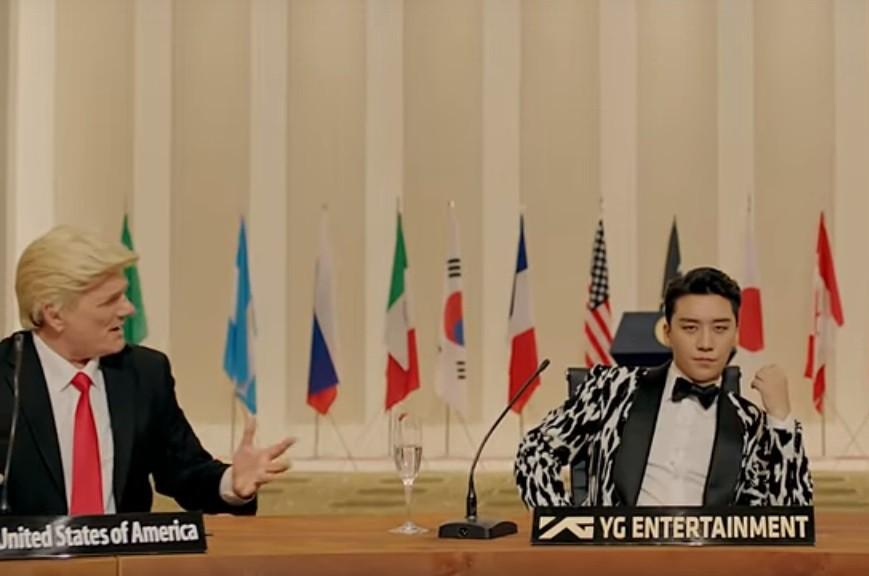 Still from Seungri and Mino's 'Where R U From'