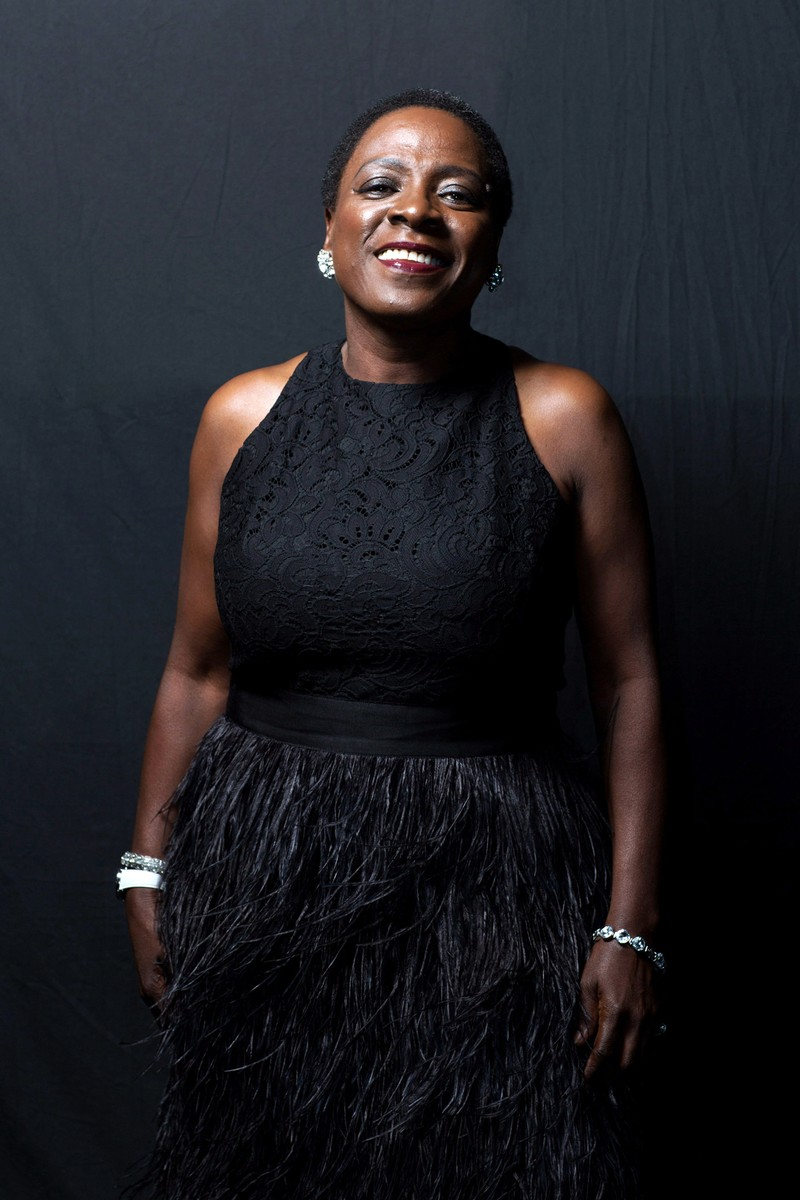 Sharon Jones poses for a portrait backstage at  day 1 of the AFROPUNK festival at Commodore Barry Park on Aug. 23, 2014 in Brooklyn, New York.
