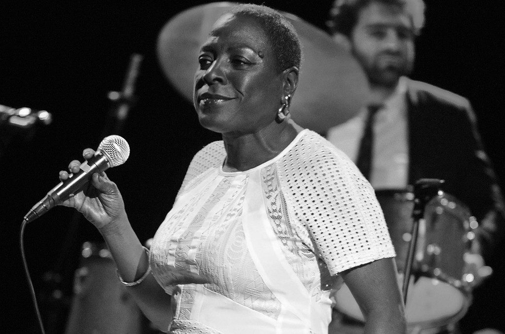 Sharon Jones of Sharon Jones and The Dap-Kings performs live at the Wiltern Theatre on March 25, 2014 in Los Angeles, United States.