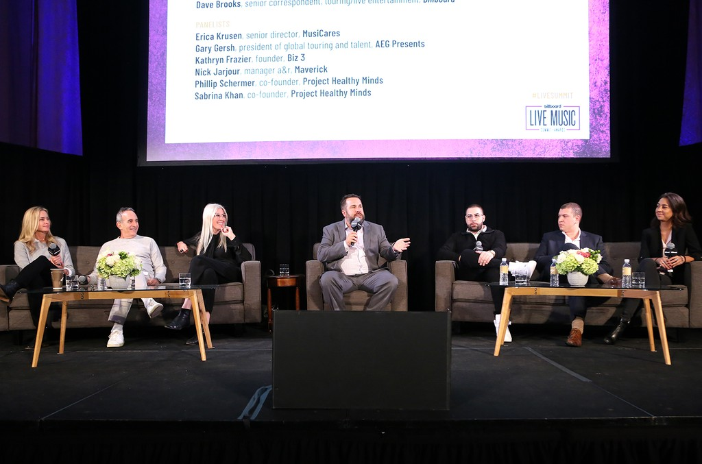 'Shattering the Stigma: It's Time to Talk About Mental Health' panel during the 2018 Billboard Live Music Summit + Awards at the Montage Beverly Hills on Nov. 14, 2018 in Beverly Hills, Calif.