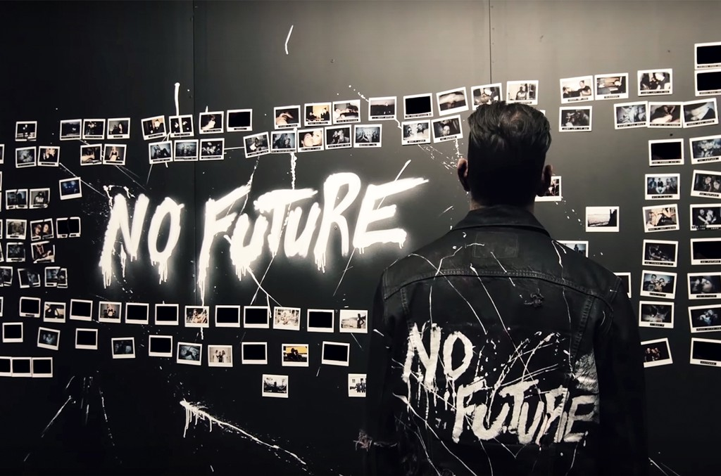 "A scene from Shaun Frank's lyric video for ""No Future"" featuring Dyson"