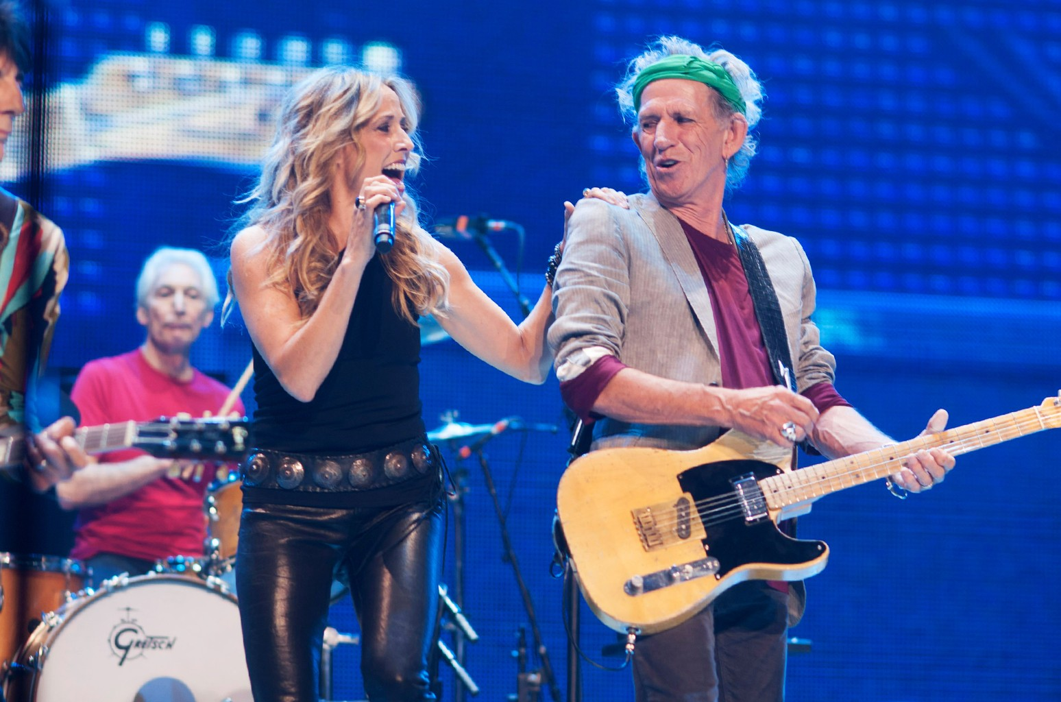 Sheryl Crow and Keith Richards of the Rolling Stones