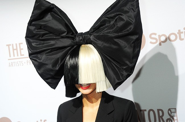 Sia arrives at The Creators Party 2016