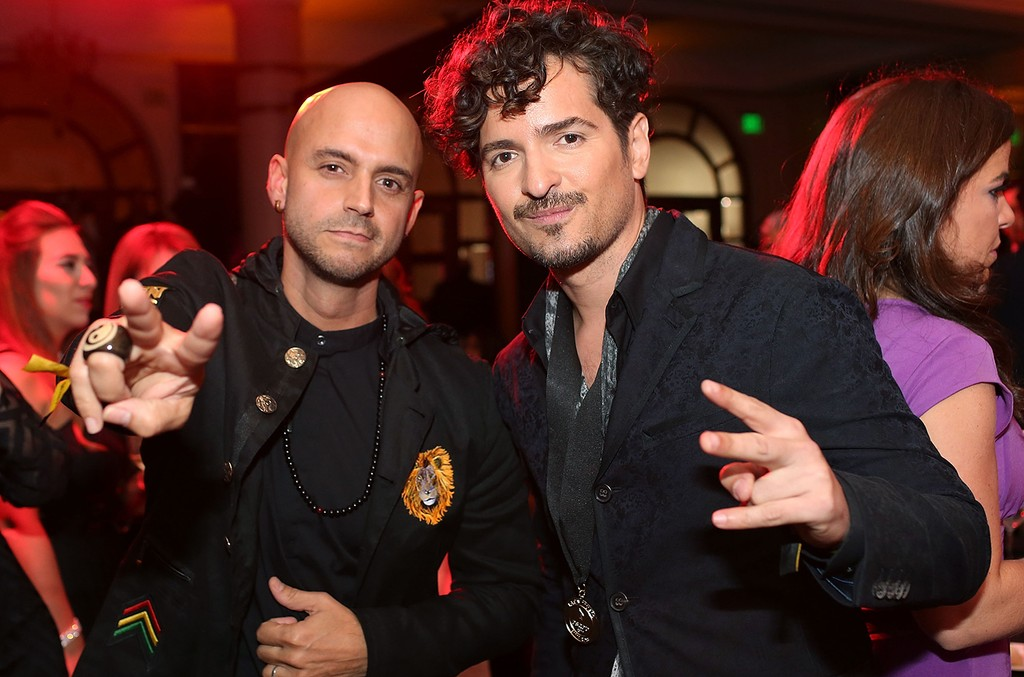 Siete and Tommy Torres pose as part of ASCAP Latin Music Awards Siete; Tommy Torres at Condado Vanderbilt Hotel on March 15, 2017 in San Juan, Puerto Rico.