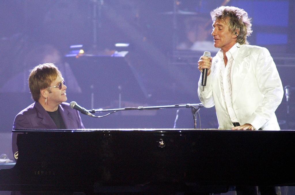 Sir Elton John and Rod Stewart
