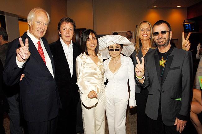 Sir George Martin, Sir Paul McCartney, Olivia Harrison, Yoko Ono, Barbara Bach and Ringo Starr