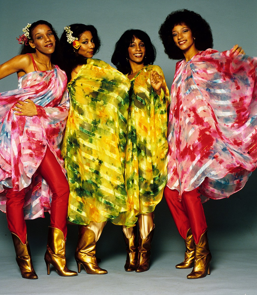 Sister Sledge pose for a portrait in 1980 in the Netherlands.