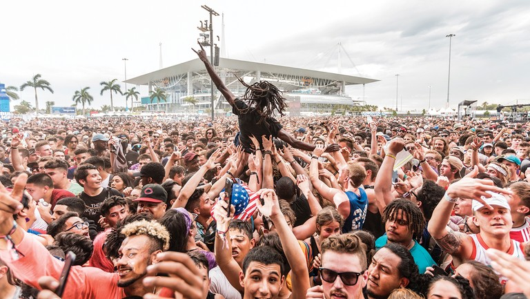 <p>The crowd watching Smokepurpp at Rolling Loud Miami in May.</p>