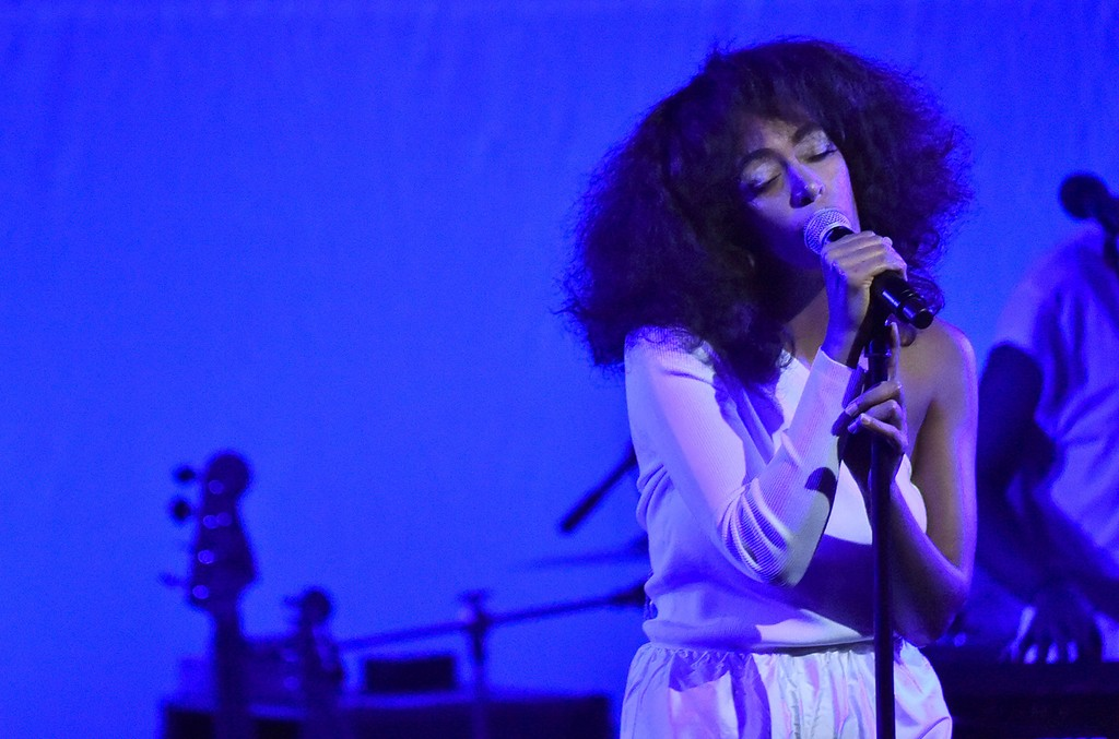Solange Knowles performs onstage at the Busboys and Poets' Peace Ball: Voices of Hope and Resistance at National Museum Of African American History & Culture on Jan. 19, 2017 in Washington, DC.