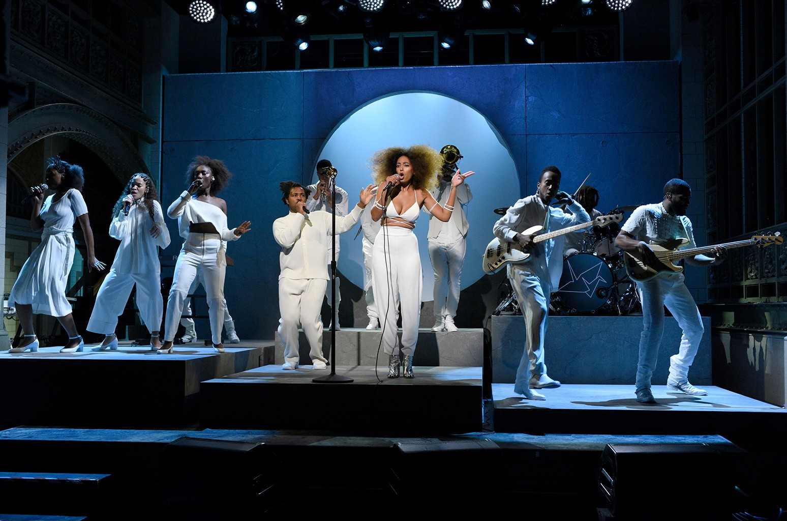 Solange Knowles performs on Saturday Night Live on Nov. 5, 2016.