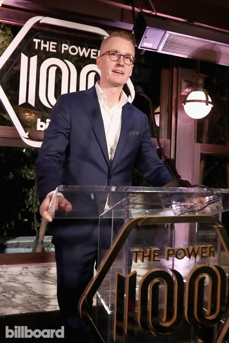 Stefan Blom, Chief strategy officer/chief content officer, Spotify speaks onstage during the 2017 Billboard Power 100 - Inside at Cecconi's on Feb. 9, 2017 in West Hollywood, Calif.