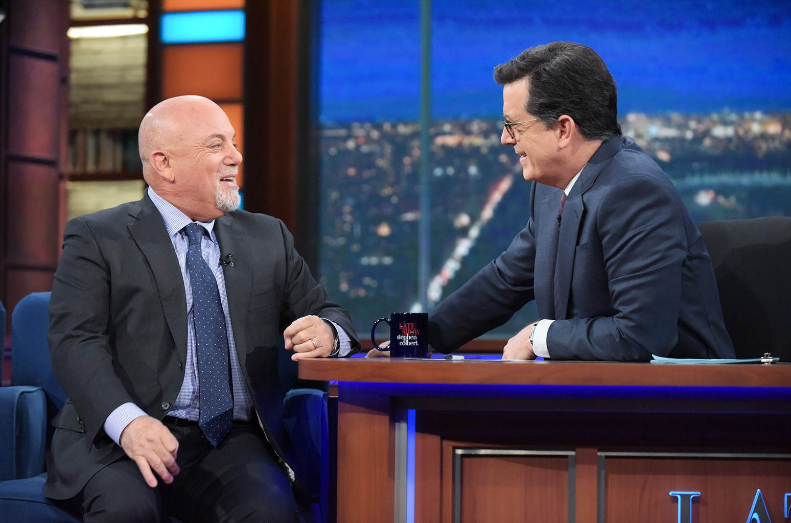 Billy Joel on 'The Late Show with Stephen Colbert' on Jan. 9, 2017 in New York.