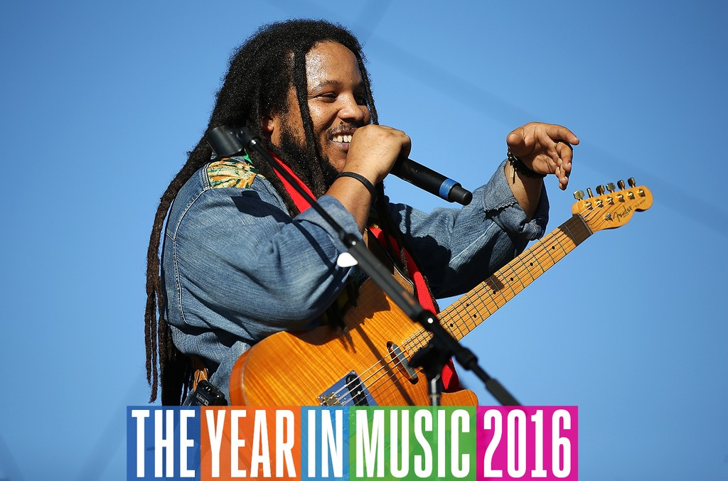 Stephen Marley performs on stage during the Blaze 'N' Glory Festival at San Manuel Amphitheater on June 4, 2016 in San Bernardino, Calif.
