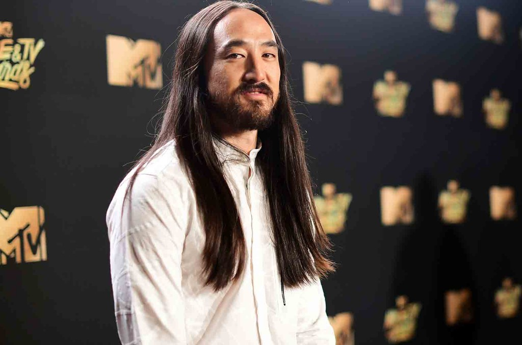 DJ Steve Aoki attends the 2017 MTV Movie And TV Awards at The Shrine Auditorium on May 7, 2017 in Los Angeles.