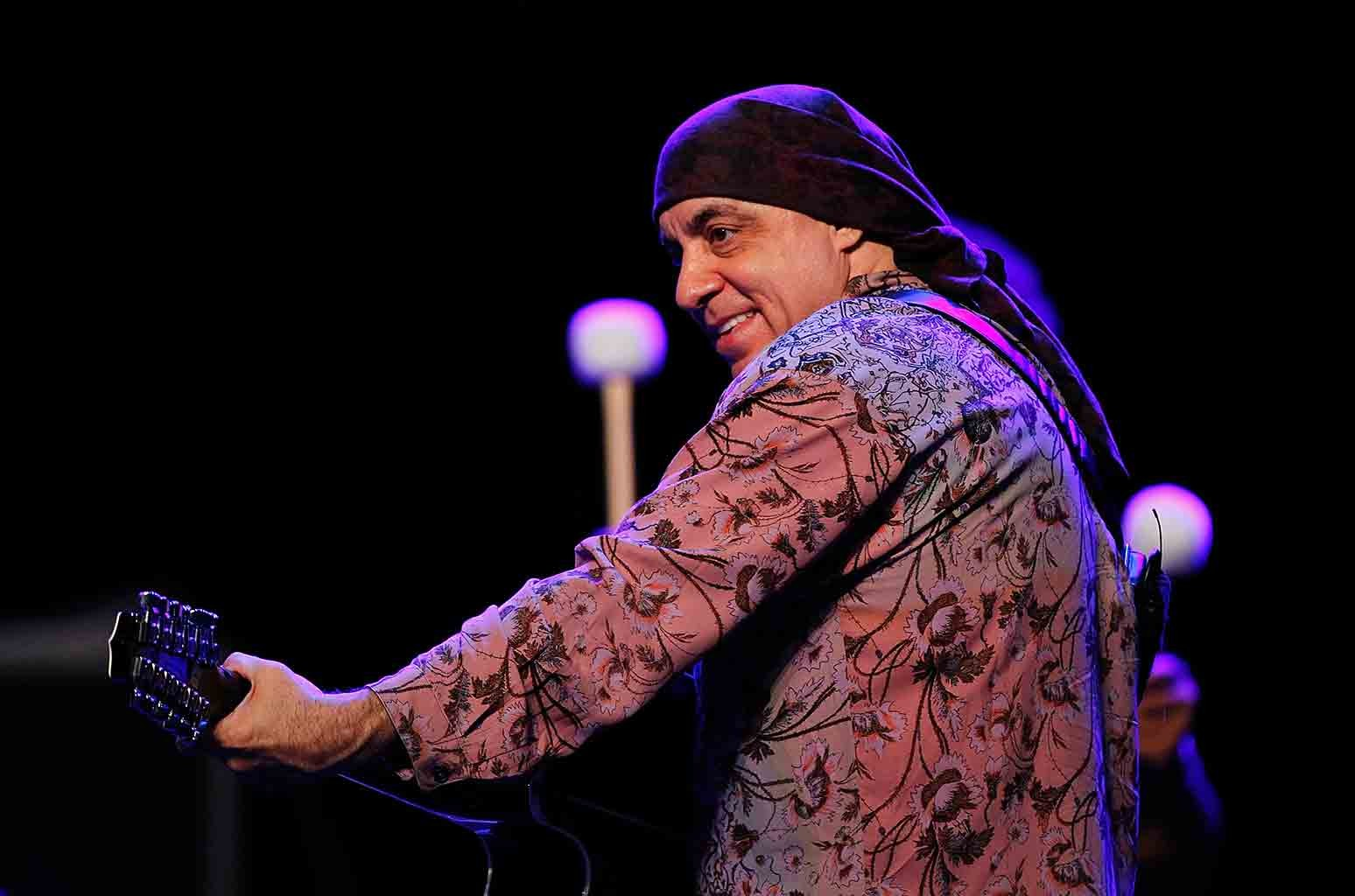Stevie Van Zandt of the E Street Band performs at a sound check before a press conference at Perth Arena on Feb. 5, 2014 in Perth, Australia.