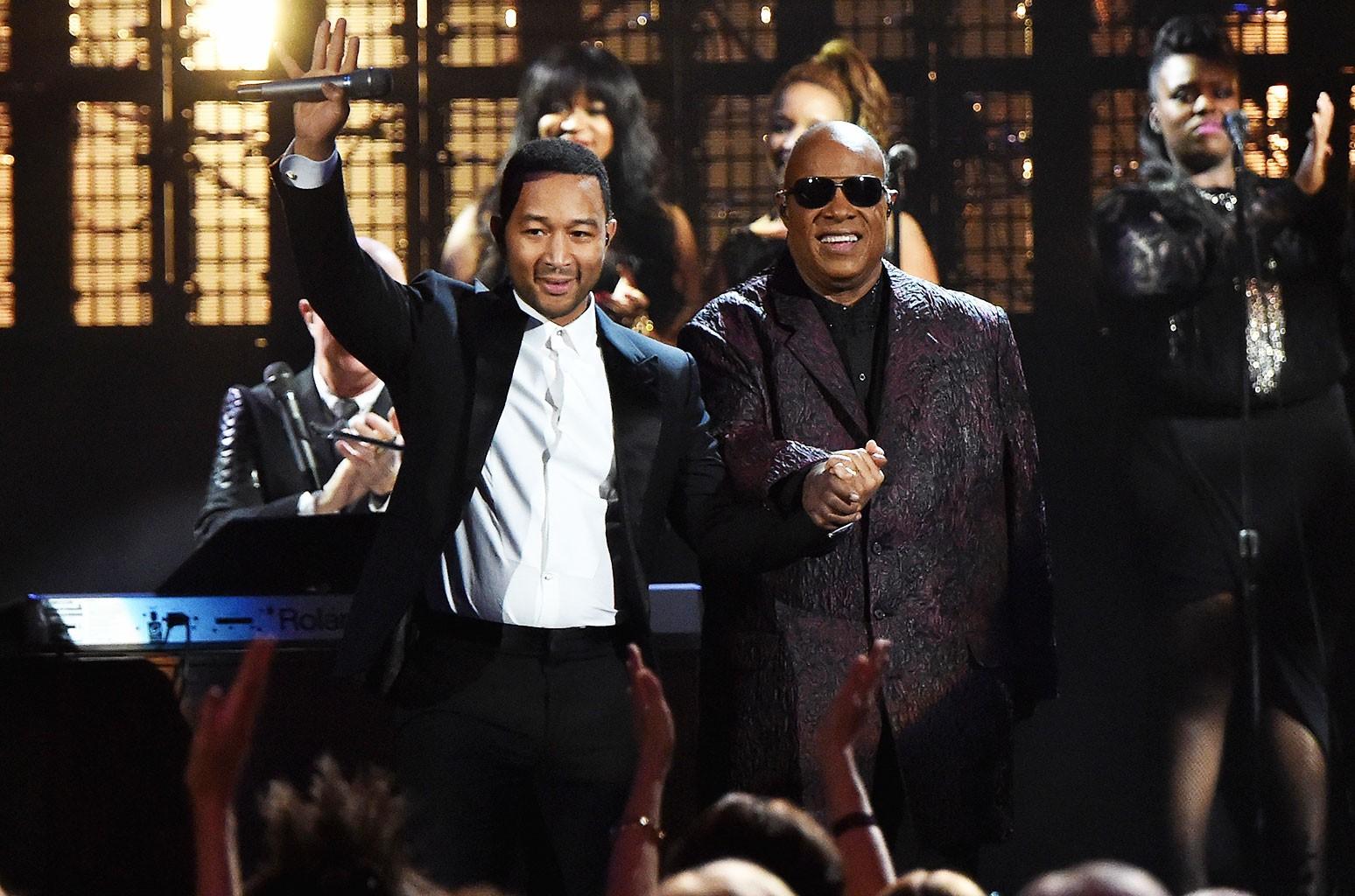 John Legend and Stevie Wonder