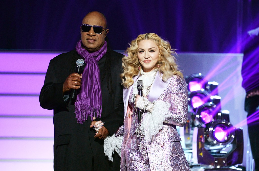 Stevie Wonder and Madonna